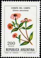 ARGENTINA - Scott #1344 Zinnia Peruviana (*) / Mint NH Stamp - Argentina