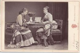 RUSSIAN IMPERIAL CABINET PHOTO COUNTESS KLEINMICHEL & VON GORTSCHASOFF, TOURTIN - Famous People