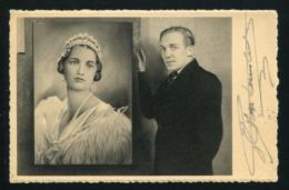 SAND PORTRAIT OF QUEEN ASTRID POSTCARD SIGNED BY THE ARTIST P. VAN RANSBEEK - Other Collections