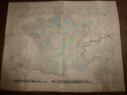 1850 ? CARTE Physique Et Politique De La FRANCE Par Drioux Et Leroy - Maps