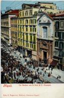 ITALIE NAPOLI VIA MEDINA CON LA FIERA DI S GIUSEPPE - Napoli