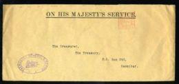 KING GEORGE Vth OHMS ENVELOPE TO ZANZIBAR 1934 - 1902-1951 (Kings)