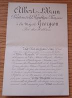 FRANCE PRESIDENT LEBRUN KING GEORG II OF GREECE BIRTH BABY PRINCE PAUL 1939 - Other Collections