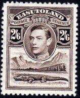 Basutoland-1938 2/6d Sepia, SG26. Very Fresh MH. - Basutoland (1933-1966)