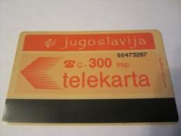JUGOSLAVIJA TELEKARTA - Yougoslavie