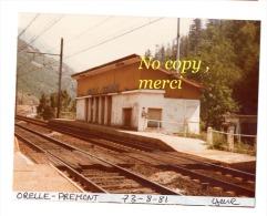 1 Photo - Gare D´ORELLE -PREMONT - Trains
