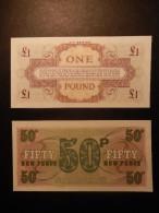 Gran Bretagna - British Armed Forces 1 Sterlina E 50 Pence - Forze Armate Britanniche & Docuementi Speciali