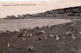 KNIGHSTONE FROM PIER  WESTON-SUPER-MARE CARTE GLACEE - Weston-Super-Mare