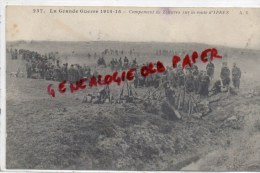 BELGIQUE - YPRES - CAMPEMENT DE ZOUAVES SUR LA ROUTE D' YPRES  1915 - Belgique