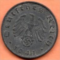 GERMANY  3 REICH  5 PFENNIG 1941 B