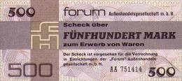 Deutschland, Germany, FORUMSCHECK Der DDR,  500 Mark  ( AA )  1979,  UNC ! - Forum-Aussenhandelsgesellschaft MbH