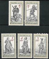 CZECHOSLOVAKIA 1983 COSTUMES & MILITARY UNIFORMS In ART MNH WEAPONS A14 - Unused Stamps