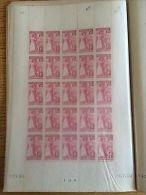 FRANCE : Feuille De 25 Timbres Français Rapatriés N°401 1938 ** Luxe MNH - France