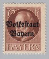 "BADEN - Scott #148 King Ludwig III  ""Overprint"" / Mint H Stamp - Bavaria"