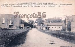 (33) Saint St Emilion Près Libourne - Fossés Et Grandes Murailles - Vignes Vignobles - Trés  Bon état - 2 SCANS - Saint-Emilion