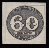 BRAZIL - Scott #610 Centenary Of The Brazilian Postage Stamps / Mint NH Stamp - Brasile