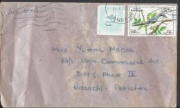 Bahrain Airmail 1991 Bird Lanius Excubitor, Domestic Bird Postal History Cover Sent To Pakistan - Bahrain (1965-...)