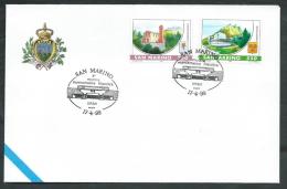 1999 SAN MARINO BUSTA SPECIALE CONVEGNO FILATELICO ERBA - RD16 - FDC