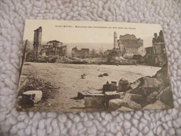 A249. CPA.  55.  SAINT-MIHIEL. Monument Des Combattants De 1870 Dans Les Ruines.  Beau Plan. Non écrite - Saint Mihiel