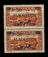 """ALAOUITES - N°35 SURCHARGE SANS POINT SUR LE """"P"""" ARABE TENANT À NORMAL - NEUF ** - Sin Clasificación"""