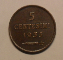 5 CENTESIMI DI SAN MARINO 1935 ROMA - - San Marino