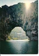 VALLON PONT D ARC - JEUX DE LUMIERE SUR LE PONT D ARC AU SOLEIL LEVANT - Vallon Pont D'Arc