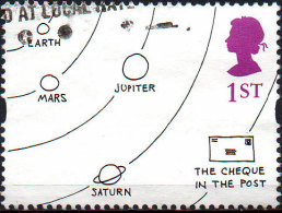 GREAT BRITAIN 1996 Greetings Stamps. Cartoons: 1st Class NVI 'The Cheque In The Post' - Usati