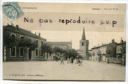 - Grane - Drôme - Place Des Écoles, Eglise, Animation, Enfants, écrite, TBE, Scans.. - Frankreich