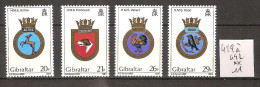 Gibraltar 489 à 492 ** Côte 11 € - Gibraltar