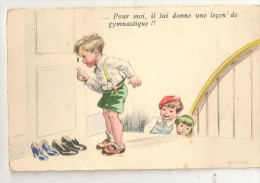 CARTE N° 1 ILLUSTRATEUR JANSER ENFANT  S DANS LE GOUT DE GERMAINE BOURET - Janser
