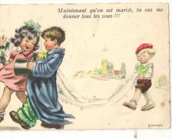CARTE N° 2 ILLUSTRATEUR JANSER ENFANT  S DANS LE GOUT DE GERMAINE BOURET - Janser