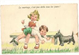 CARTE N° 3 ILLUSTRATEUR JANSER ENFANT  S DANS LE GOUT DE GERMAINE BOURET - Janser