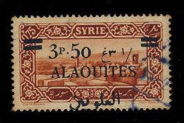 ALAOUITES - N°35 SURCHARGE DÉPLACÉE - OBLITÉRÉ - Sin Clasificación