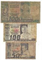 Madagascar 1974 Lot 3 Banknotes - Madagaskar