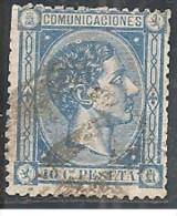 España/Spain-(usado) - Edifil  164 - Yvert  155 (o) - 1875-1882 Königreich: Alphonse XII.