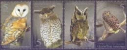 Thailand - Owls, Set Of 4 Stamps, MINT, 2013 - Owls
