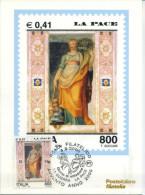 ITALIA - FDC MAXIMUM CARD 2000 - AVVENTO - LA PACE - ANNULLO SPECIALE - Maximumkarten (MC)
