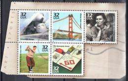 United States 1998 Celebrate Century 1930s - Sc 3185p-t -  Mi 3037-41 - Block Of 5 - Used - Blocks & Sheetlets