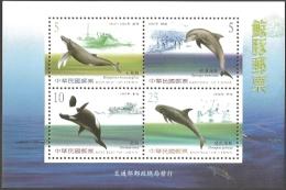 Taiwan - Cetaceans, Souvenir Sheet, MINT, 2002 - Dolphins