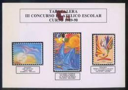 España. Tabaco. *Tabacalera. III Concurso Filátelico Escolar. Curso 1989-90* Lote 2 Diferentes. Nuevas. - Publicidad