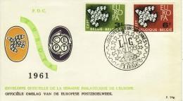 BELGIUM 1961 EUROPA CEPT FDC /ZX/ - Europa-CEPT