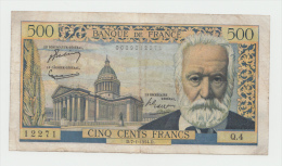"""France 500 Francs 7-1-1954 """"aF+"""" RARE Banknote P 133a  133 A - 1871-1952 Circulated During XXth"""