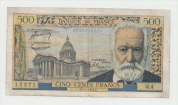 "France 500 Francs 7-1-1954 ""aF+"" RARE Banknote P 133a  133 A - 1871-1952 Antichi Franchi Circolanti Nel XX Secolo"