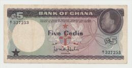 Ghana 5 Cedis 1965 VF Banknote Pick 6a  6 A - Ghana