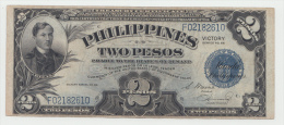 Philippines 2 Peso 1944 VF Victory Over Japan WW 2 - Series C Pick 95 - Philippines