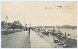 SLOVAKIA BRATISLAVA POZSONY PRESSBURG JUSTISOR KIKOTO – JUSTILANDE LANDUNGSPLATZ GESTEMPELT 1928 (A417) - Slovacchia