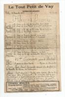 journal hebdomadaire , LE TOUT PETIT DE VAY , n� 48 , 1933 , sous bande d�envoi ( 3 �me scan) , 2 pages , 3 scans