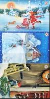 PA1414 Oran 2011 Christmas Dwarfs 3v Postcard MNH - Aland