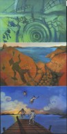 PA1417 Oran 2011 Folklore 3v Postcard MNH - Aland