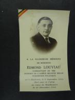 Edmond Louviau Membre De L'Armée Secrète Belge Havinnes 1915 Camp De Mauthausen 1944 - Devotion Images